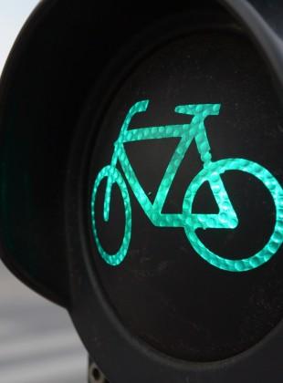 Grüne Fahrradampel